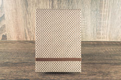Handmade notepad decorated with fabric used for writing reminders of your life or business Royalty Free Stock Photos