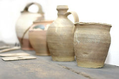 Handmade old ceramics Stock Images