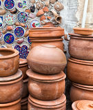 Handmade old clay pottery ceramics Royalty Free Stock Photo