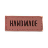 Handmade, old, vintage leather label Stock Images