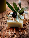 Handmade Olive Soap royalty free stock photography