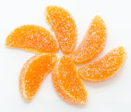 Handmade orange fruit jellies Royalty Free Stock Image
