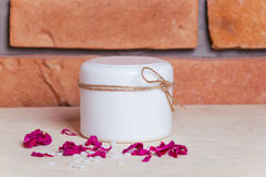 Handmade organic cream Royalty Free Stock Photos