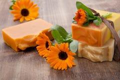 Handmade Organic Soap Stock Photo