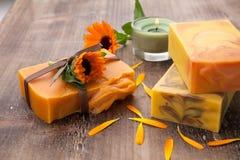 Handmade Organic Soap Stock Photos