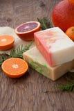 Handmade Organicznie mydło Zdjęcie Stock