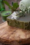 Handmade Organicznie mydło i Organicznie olej Obrazy Stock