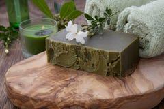 Handmade Organicznie mydło i Organicznie olej Obraz Stock