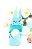 Handmade origami easter bunny Royalty Free Stock Photography
