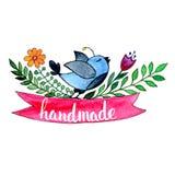Handmade. Original custom hand lettering. Stock Image