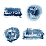 Handmade. Original custom hand lettering. Stock Photo