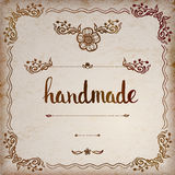 Handmade. Original custom hand lettering. Stock Photography