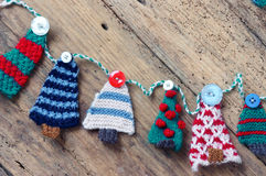 Handmade ornament, knitted pine tree, christmas, Xmas Royalty Free Stock Images