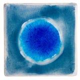 Handmade oszklona ceramiczna płytka fotografia royalty free