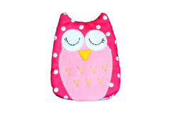 Handmade owl doll Royalty Free Stock Photo