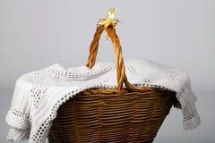 Handmade łozinowy kosz Fotografia Stock