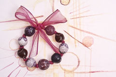 Handmade Painted Beads Bracelet Stock Photography