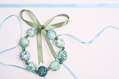 Handmade Painted Beads Bracelet stock image