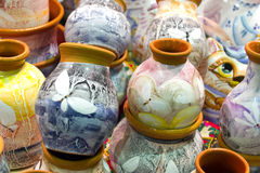 Handmade painted ceramics Stock Photography