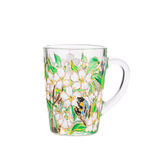 Handmade painted cup. Royalty Free Stock Photography