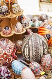 Handmade painted easter eggs Stock Images