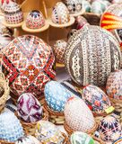 Handmade painted easter eggs Royalty Free Stock Photography