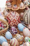 Handmade painted easter eggs Stock Photography