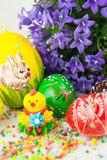 Handmade painted Easter eggs Royalty Free Stock Image