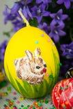 Handmade painted Easter eggs Stock Image
