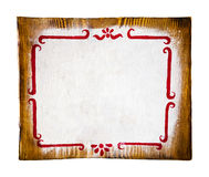 Handmade Painted Empty Wooden Sign Stock Photography