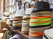 Handmade Panama Hats for sale. Stock Images