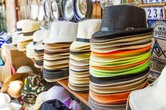 Handmade Panama Hats for sale. Stock Image