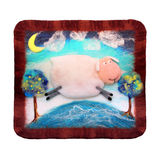 Handmade Panno с овцами Стоковая Фотография RF