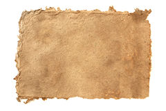 Handmade paper. Isolated on white Royalty Free Stock Photo