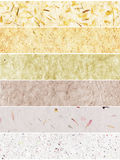 Handmade paper banners Stock Photos