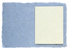 Handmade paper with blank note Stock Photo