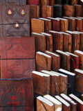 Handmade paper books and journals Stock Photo