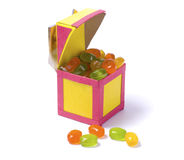 Handmade paper box with candy Royalty Free Stock Image