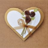 Handmade paper card love heart shape Royalty Free Stock Photo
