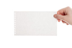Handmade paper card in woman hand Stock Photography