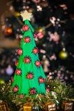 Handmade paper christmas tree Royalty Free Stock Photos