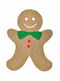 Gingerbread man. Handmade of paper cut out gingerbread man royalty free illustration