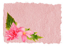 Handmade paper with a flower Royalty Free Stock Image