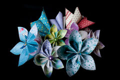 Handmade paper flowers Stock Images