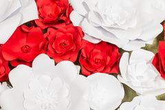 Handmade paper flowers on interior Royalty Free Stock Photos