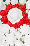 Handmade paper flowers on interior Stock Images
