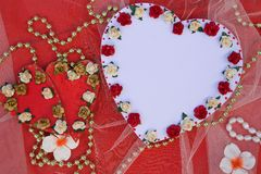 Handmade paper heart with free space for a text Royalty Free Stock Images