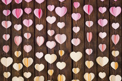 Handmade paper hearts decor Royalty Free Stock Images