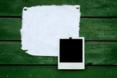 Handmade paper and instant photo Royalty Free Stock Photography