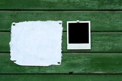 Handmade paper and instant photo Royalty Free Stock Images